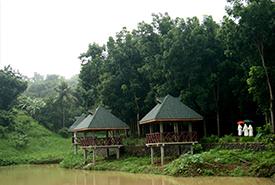 Kubol near the pond